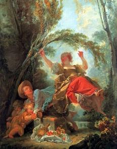 Versión temprana de El columpio (entre 1750 y 1755),