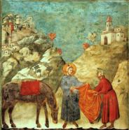 Giotto_-_Legend_of_St_Francis_-_-02-_-_St_Francis_Giving_his_Mantle_to_a_Poor_Man